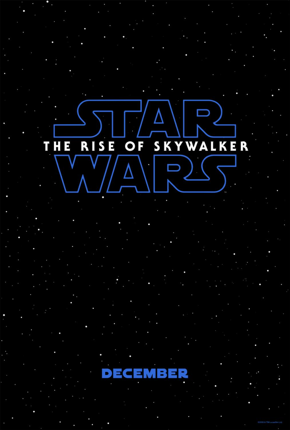 New Star Wars: The Rise of Skywalker Movie Poster